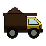 Icône d'isolement de camion à benne basculante Photos libres de droits