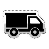 Icône d'isolement de camion à benne basculante Photo stock