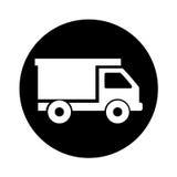 Icône d'isolement de camion à benne basculante Images stock