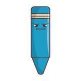 icône d'isolement de caractère comique de crayon Photographie stock