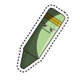 icône d'isolement de caractère comique de crayon Photo libre de droits