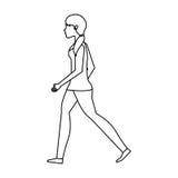 icône d'isolement de marche de personne Photos libres de droits