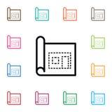 Icône d'isolement de page L'élément architectural de vecteur peut être employé pour le modèle, architectural, concept de construc Photos libres de droits