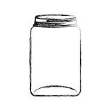 icône d'isolement de pot de maçon illustration stock
