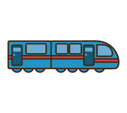 Icône d'isolement de véhicule de transport de tram illustration libre de droits