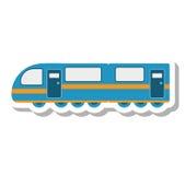 Icône d'isolement de véhicule de transport de tram illustration stock