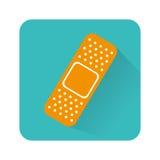 Icône d'isolement médicale de bandage Photos stock