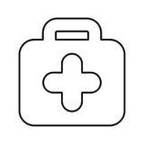 Icône d'isolement médicale de kit Images stock