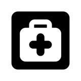 Icône d'isolement médicale de kit Photos stock