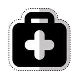 Icône d'isolement médicale de kit Photographie stock
