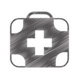 Icône d'isolement médicale de kit Images libres de droits