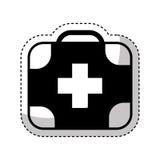 Icône d'isolement médicale de kit Photographie stock libre de droits