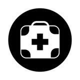 Icône d'isolement médicale de kit Photo stock