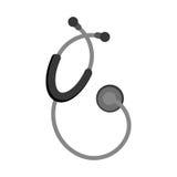 Icône d'isolement médicale de stéthoscope illustration stock