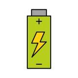 Icône d'isolement par énergie de batterie illustration de vecteur