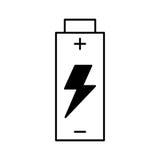 Icône d'isolement par énergie de batterie illustration libre de droits
