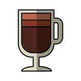 Icône d'isolement par boisson de tasse de café Image libre de droits
