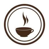 Icône d'isolement par boisson de tasse de café Photo stock