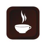 Icône d'isolement par boisson de tasse de café Image stock