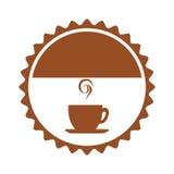 Icône d'isolement par boisson de tasse de café Photo libre de droits