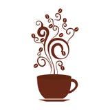 Icône d'isolement par boisson de tasse de café Photos stock