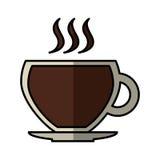 Icône d'isolement par boisson de tasse de café Photographie stock