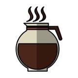 icône d'isolement par boisson de théière de café Photo libre de droits