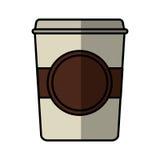 icône d'isolement par boisson en verre de café Image libre de droits