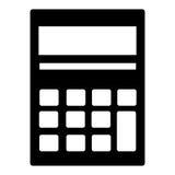Icône d'isolement par calculatrice au-dessus du fond blanc Image stock