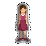 icône d'isolement par caractère d'avatar de femme Photo libre de droits