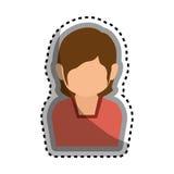 icône d'isolement par caractère d'avatar de femme Image stock