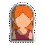 icône d'isolement par caractère d'avatar de femme Photo stock