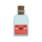 icône d'isolement par caractère en verre d'essai de tube Photos stock