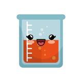 icône d'isolement par caractère en verre d'essai de tube Photo libre de droits