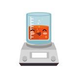 icône d'isolement par caractère en verre d'essai de tube Photographie stock libre de droits