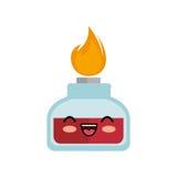 icône d'isolement par caractère en verre d'essai de tube Images stock