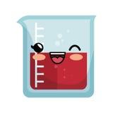 icône d'isolement par caractère en verre d'essai de tube Image stock
