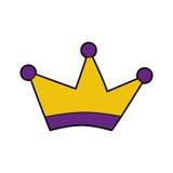 Icône d'isolement par dessin de couronne de roi illustration stock