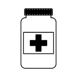 Icône d'isolement par drogue de bouteille Photographie stock libre de droits