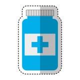 Icône d'isolement par drogue de bouteille Images stock