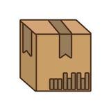 Icône d'isolement par emballage de carton de boîte illustration libre de droits