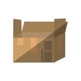 Icône d'isolement par emballage de carton de boîte illustration de vecteur