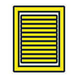Icône d'isolement par feuille de document d'entreprise Photographie stock