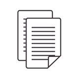 Icône d'isolement par fichier document de papier Photographie stock libre de droits