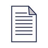 Icône d'isolement par fichier document de papier Photo libre de droits