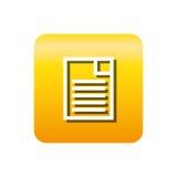 Icône d'isolement par fichier document de papier Photos stock