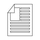 Icône d'isolement par fichier document de papier Photos libres de droits