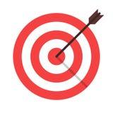 icône d'isolement par flèche de cible photos libres de droits