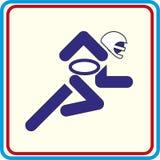 Icône d'isolement par football américain de sport Photos stock
