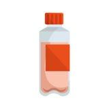 Icône d'isolement par gymnase de bouteille d'eau Photos libres de droits